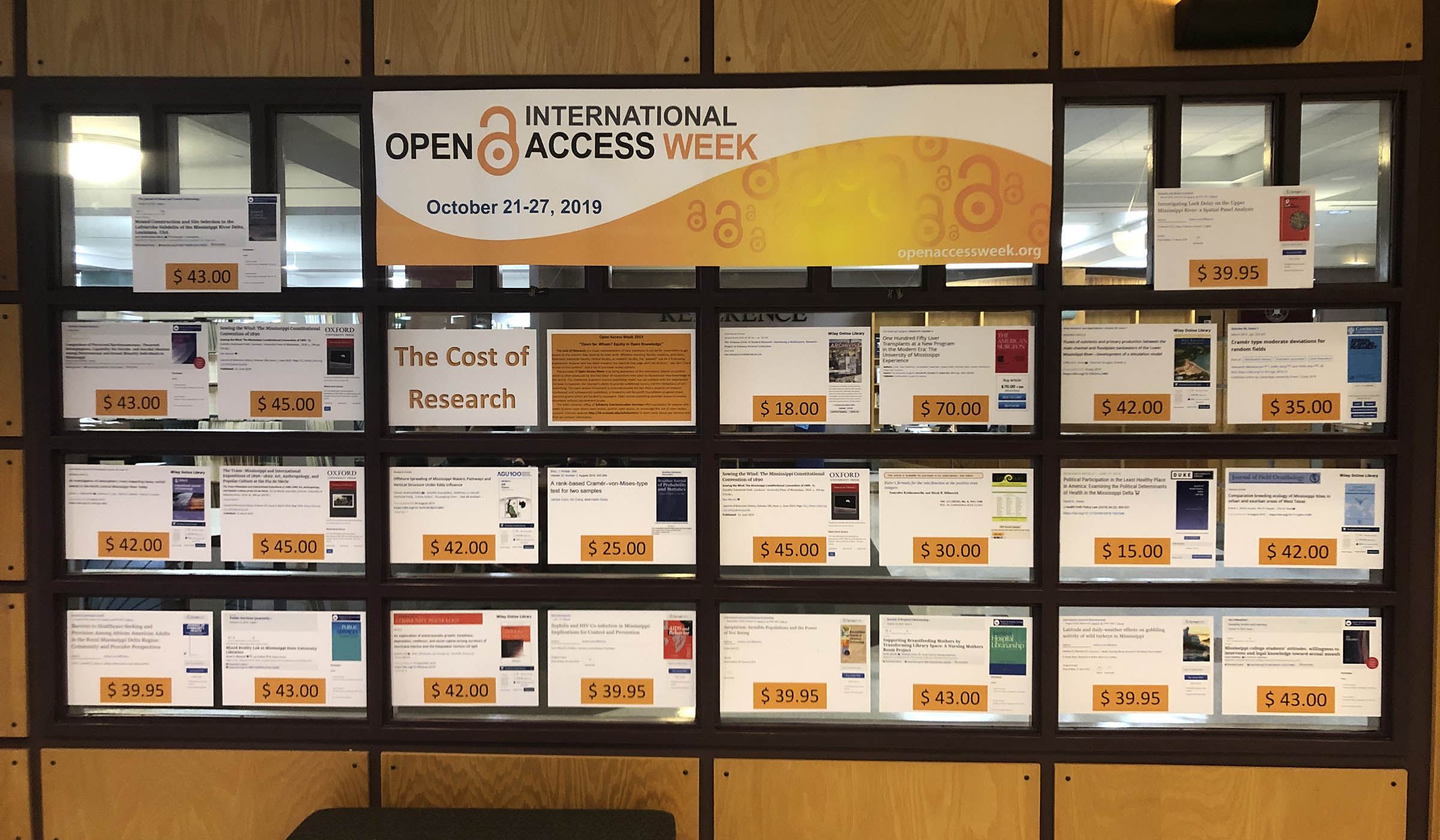 Open Access Week display