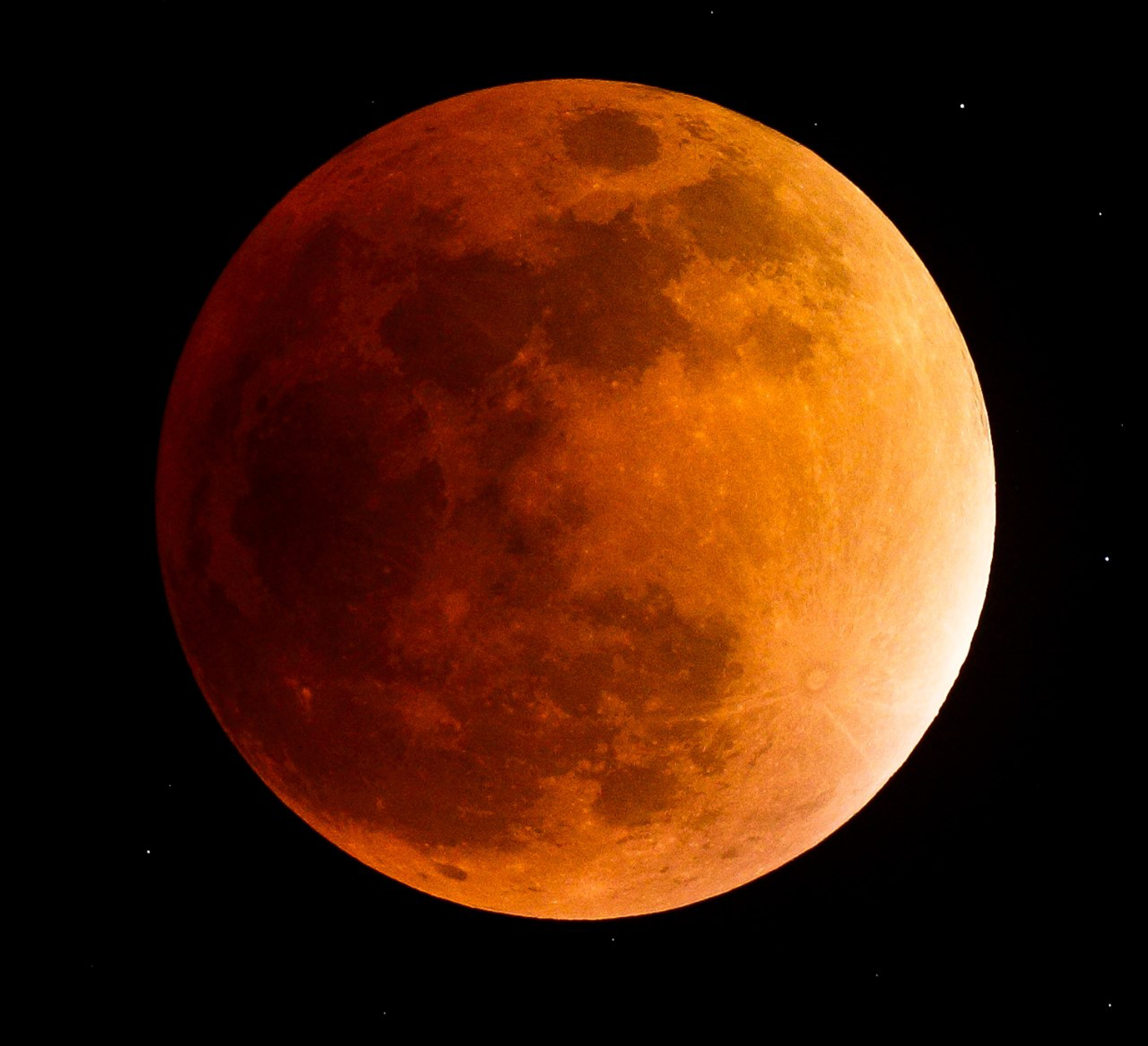 Photo of a blood moon
